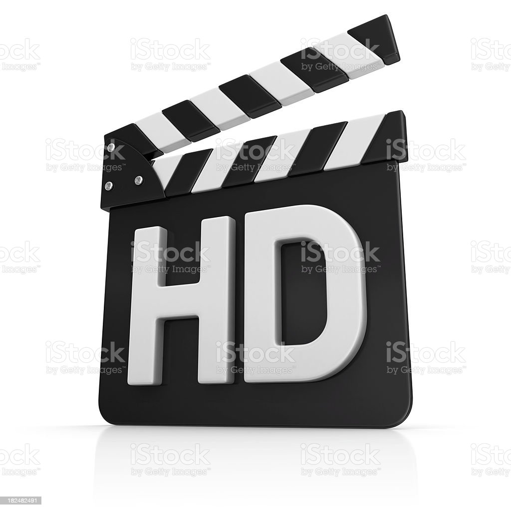 white hd on film slate royalty-free stock photo
