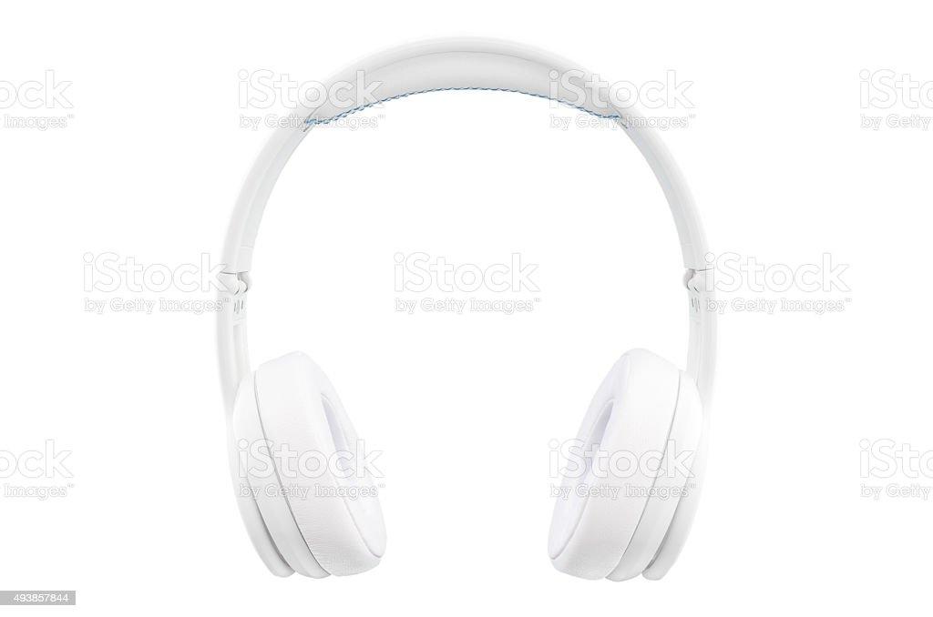 Auriculares aislados en blanco - foto de stock
