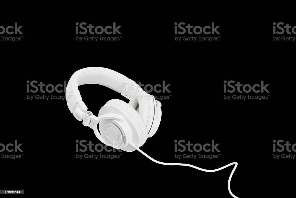 white headphones royalty-free stock photo