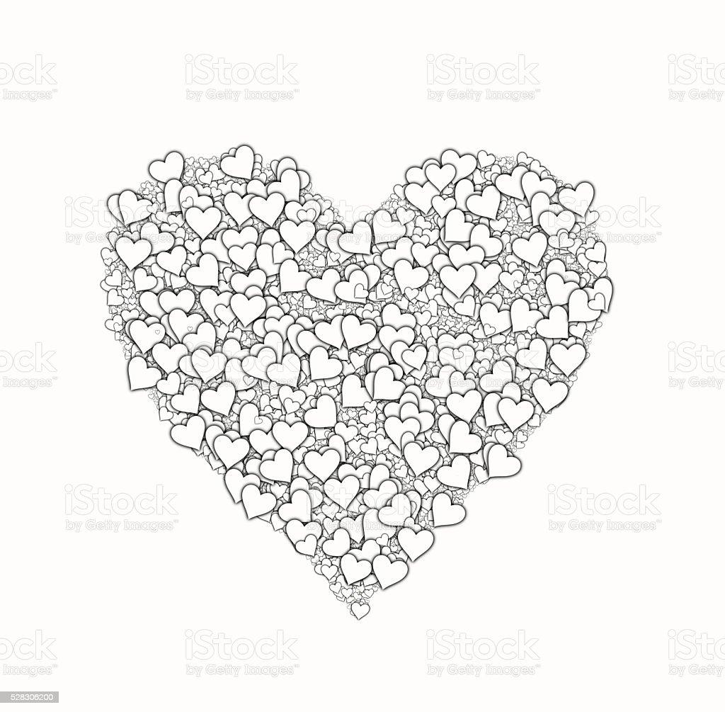 Fotografía De Blanco Símbolo En Forma De Corazón Con Muchos