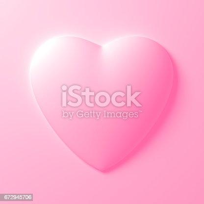 istock White Heart Shape On White Background 672945706