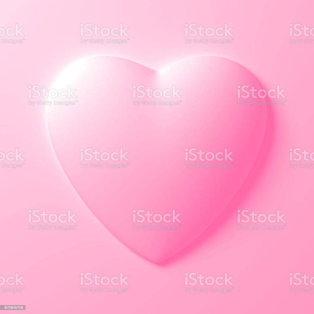 White Heart Shape On White Background stock photo