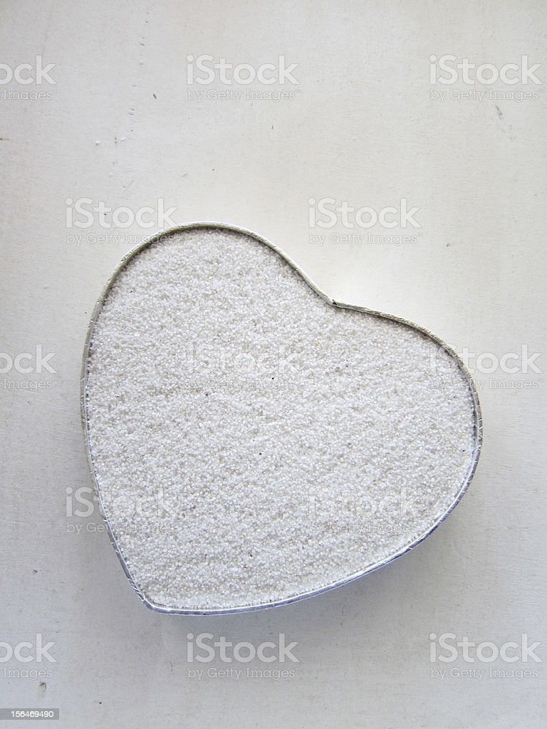 white heart shape royalty-free stock photo
