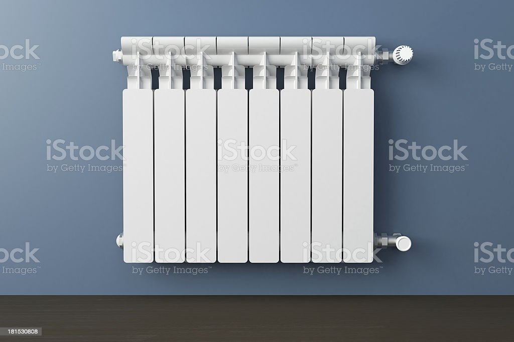 White heating radiator stock photo