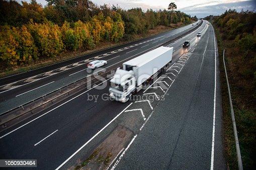 istock White heavy truck 1050930464