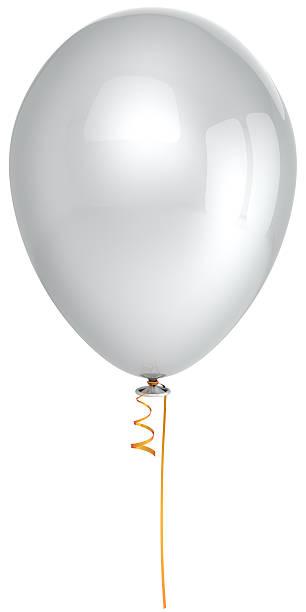 leere weiße helium-luftballons party happy birthday dekoration klassische - bandanzeige stock-fotos und bilder