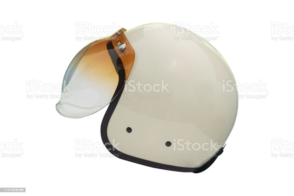 White Helmets Racing Cafe Styles Vintage Isolated On White