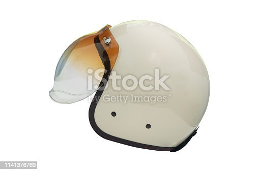 White Helmets Racing Cafe styles vintage isolated on white background.