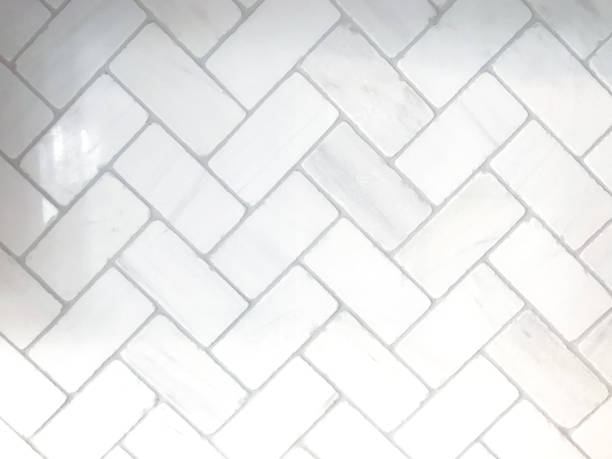 White Herringbone Background stock photo