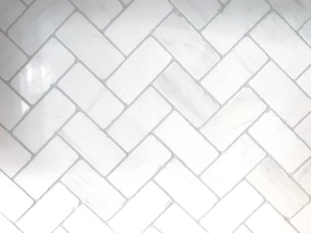 white herringbone background - azulejo imagens e fotografias de stock