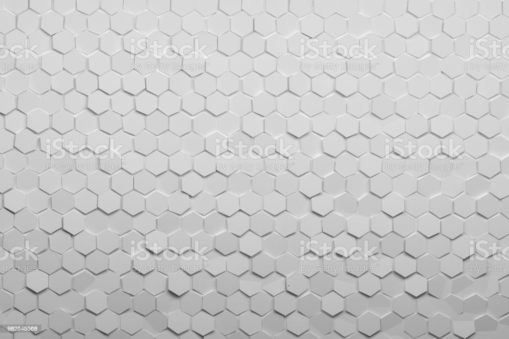 White hexagonal pattern stock photo