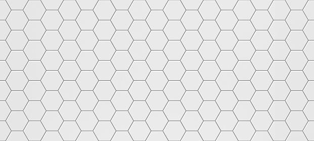 White hexagonal seamless tile texture