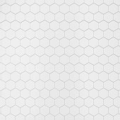 White hexagonal tile