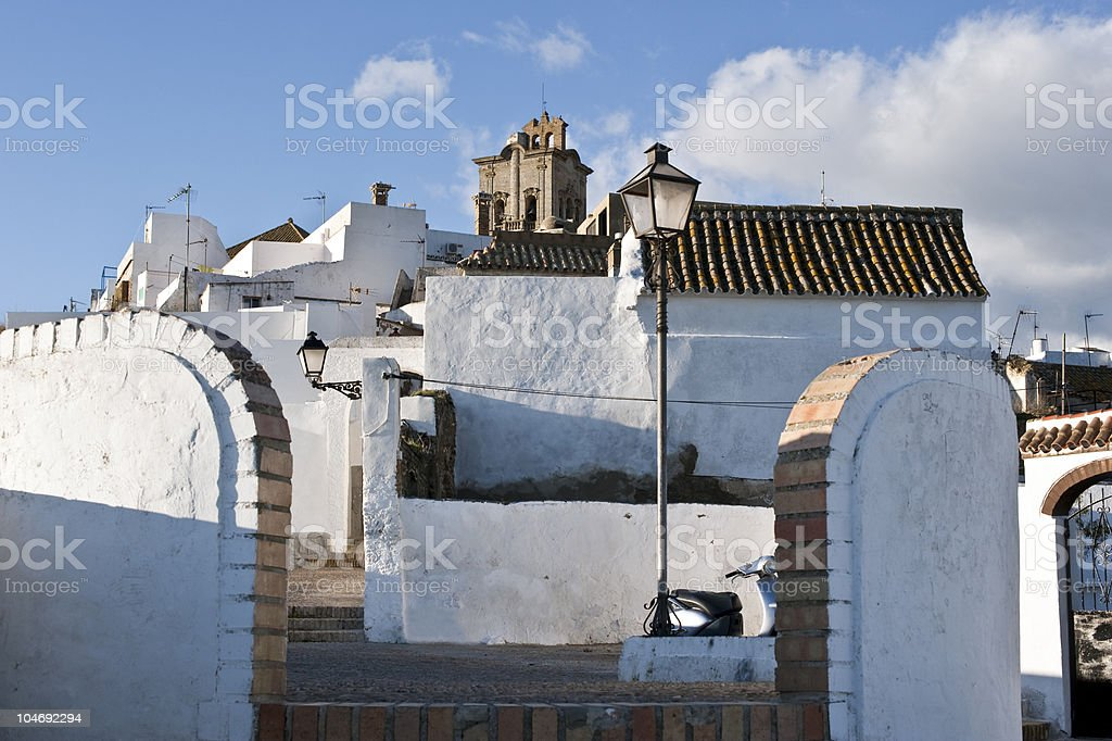 White hill town of Arcos de la Frontera, Spain royalty-free stock photo