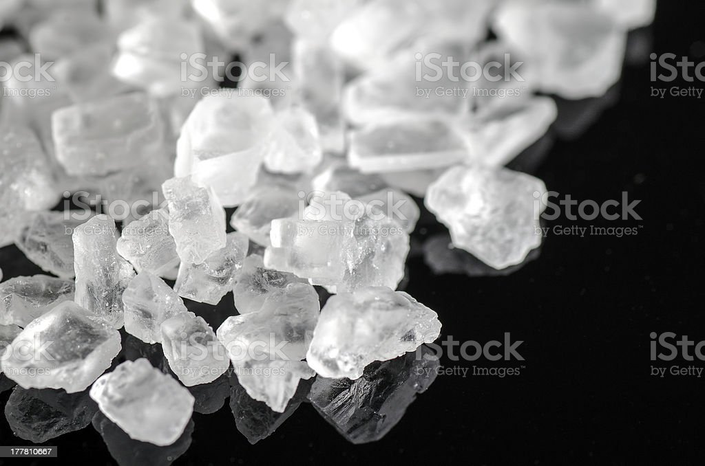 White Himalayan rock salt. stock photo