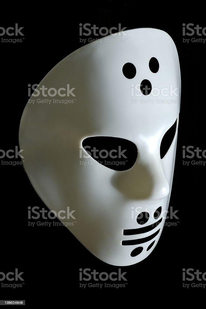 White hockey mask stock photo