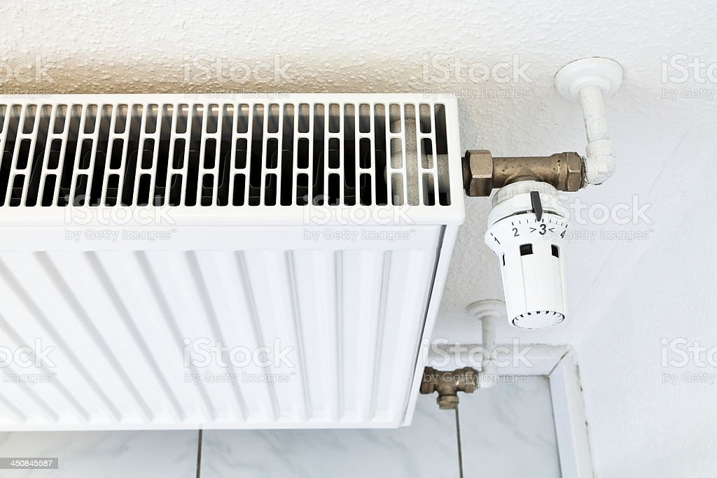 white home heat radiator royalty-free stock photo