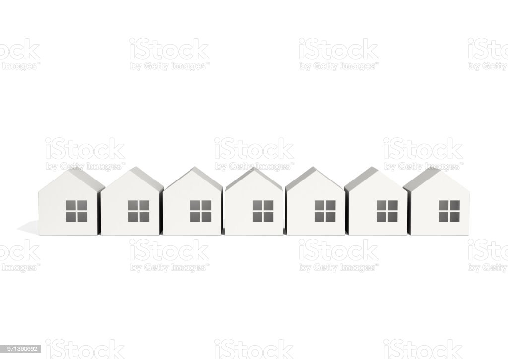 white home icon stock photo