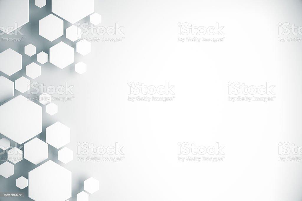 White honeycomb pattern stock photo