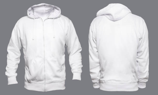 White Hoodie Mock up stock photo