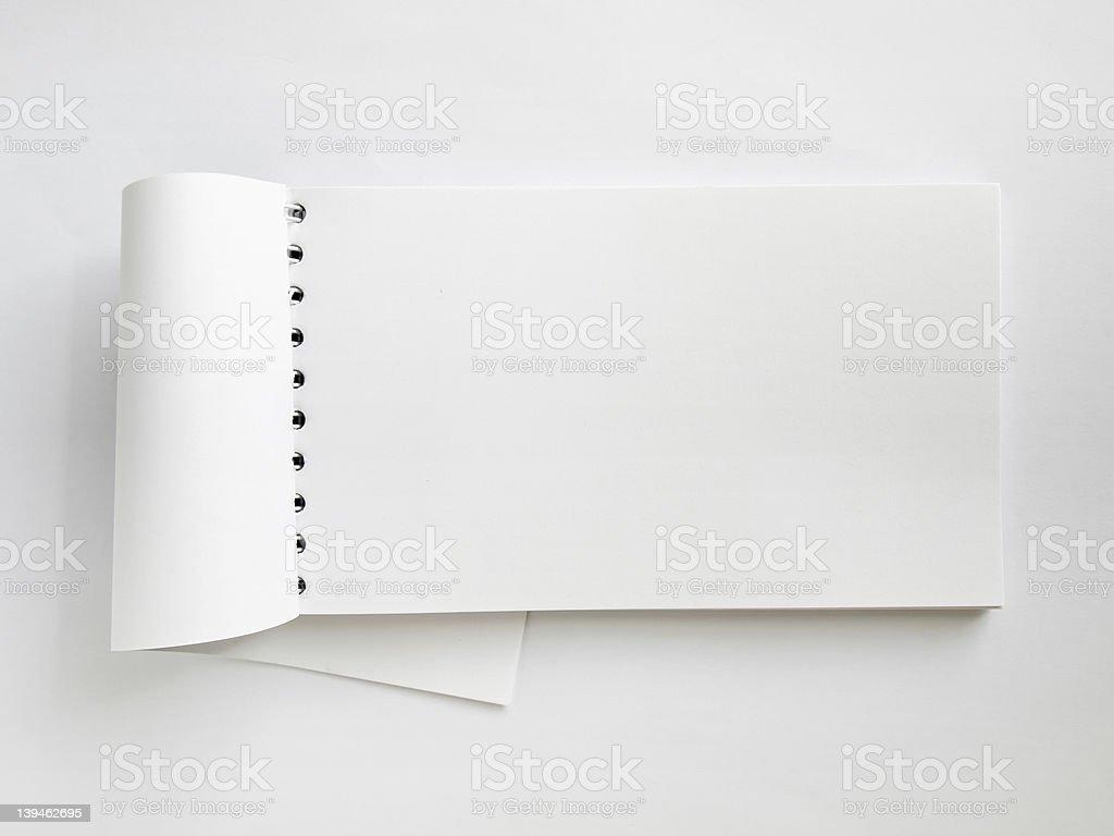 White Horizontal note book open royalty-free stock photo