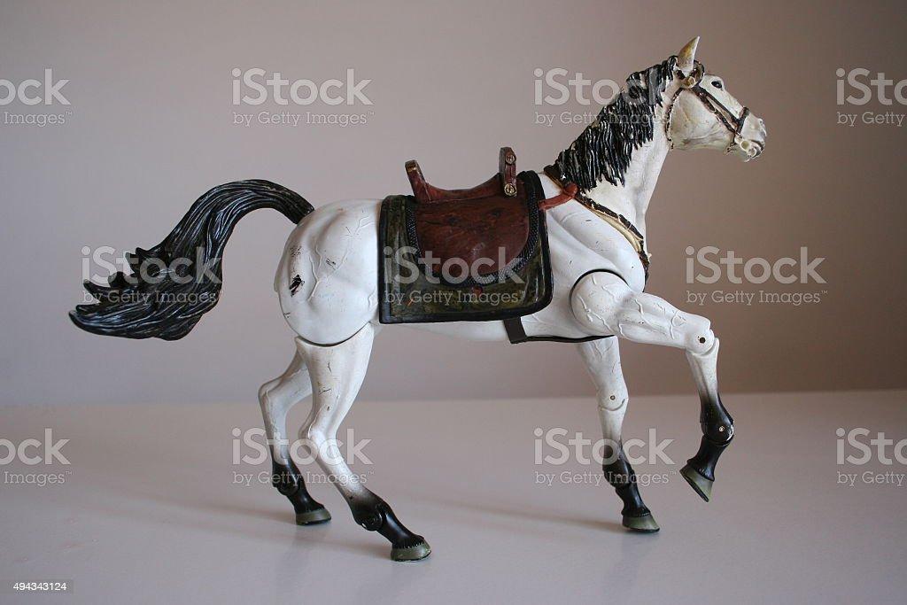 White Horse Toy Walking Stock Photo Download Image Now Istock