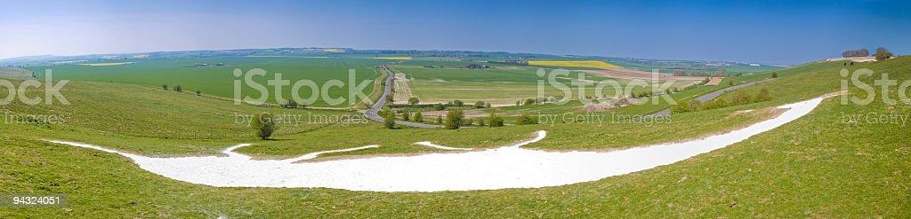 White horse valley royalty-free stock photo