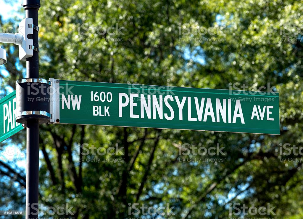 White House 1600 Pennsylvania Avenue. stock photo