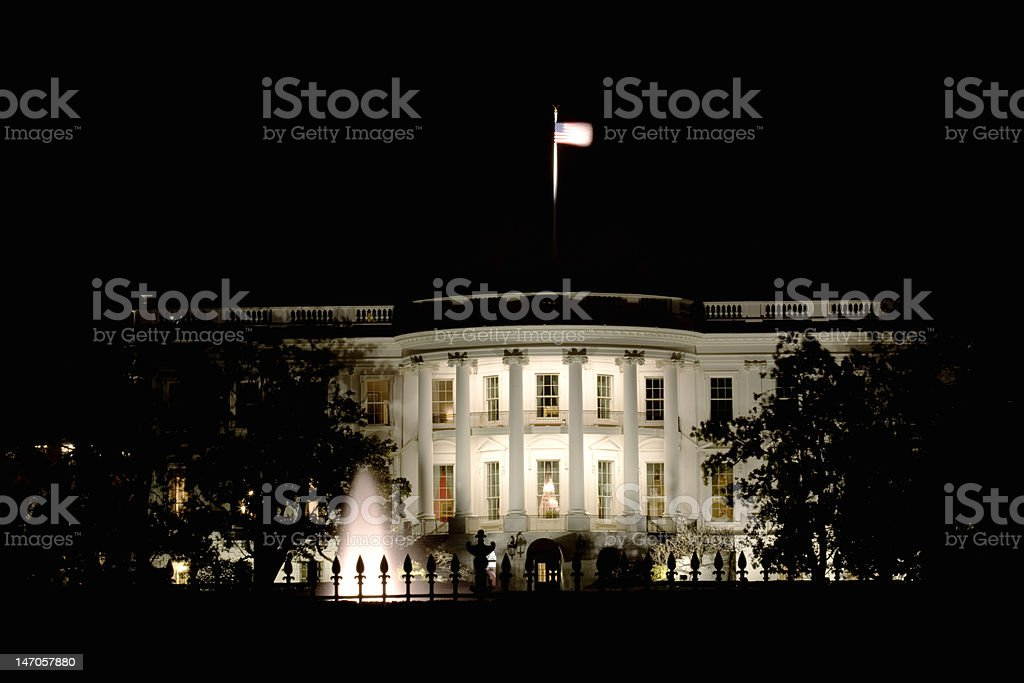 White House After Dark royalty-free stock photo