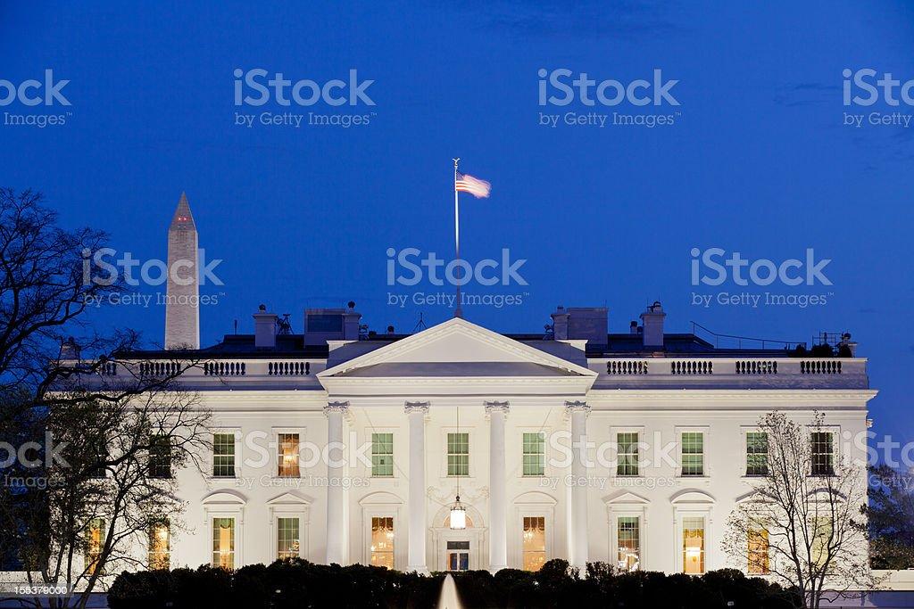 White House at Dusk stock photo