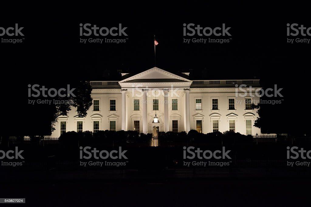 Weißes Haus bei Nacht im Washington, DC – Foto