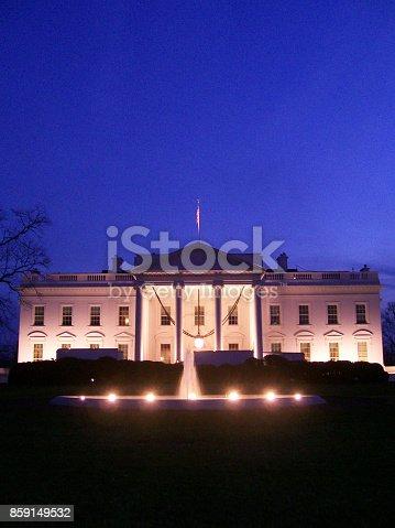 istock White House at night in Washington DC 859149532