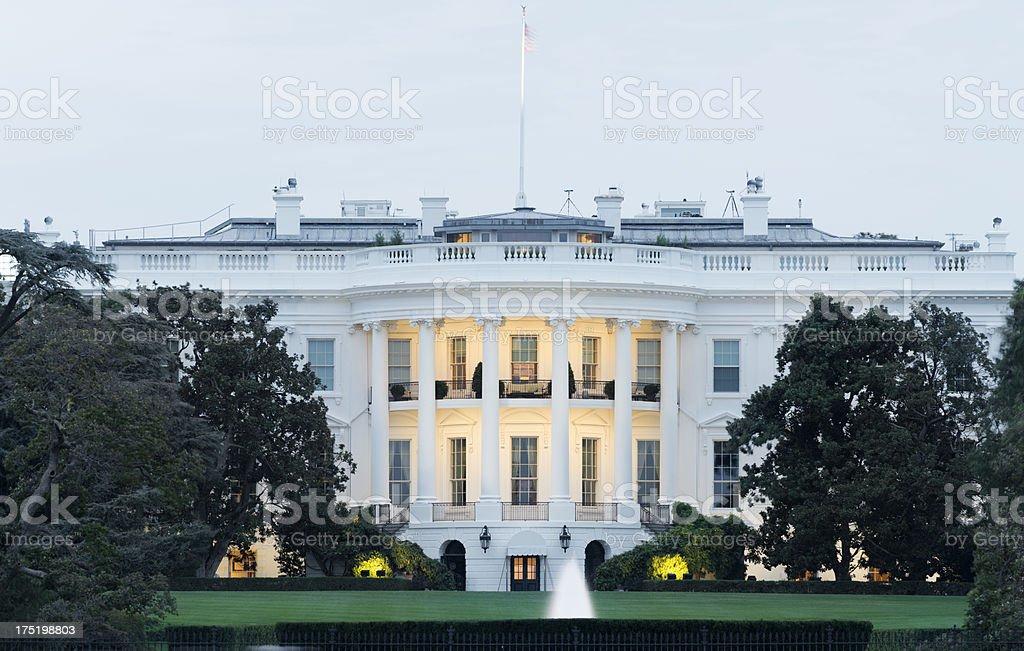White House at Night in Washington DC USA royalty-free stock photo