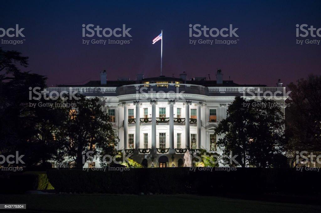 White House at Night The White House at Night (stock image) American Culture Stock Photo