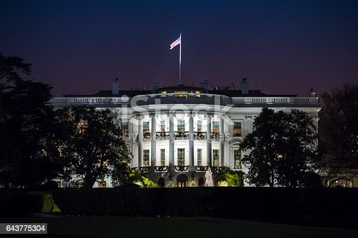 The White House at Night (stock image)