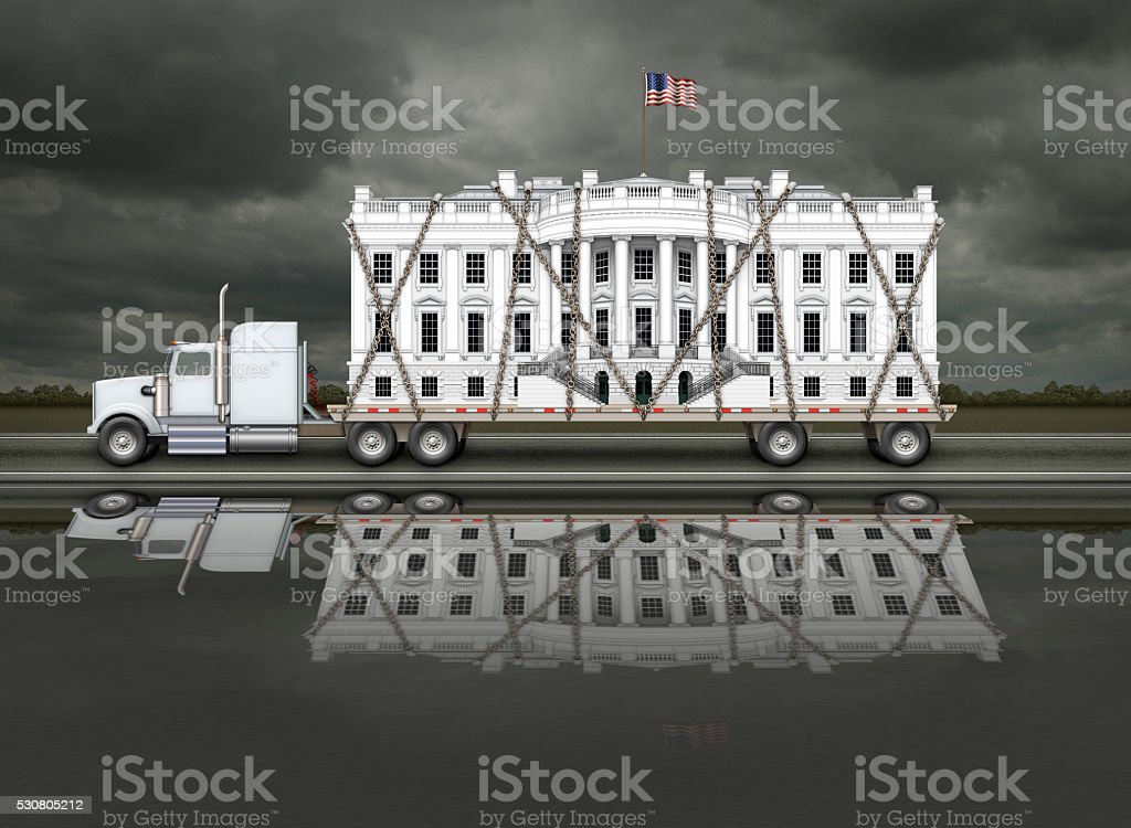 White House Being Delivered stock photo