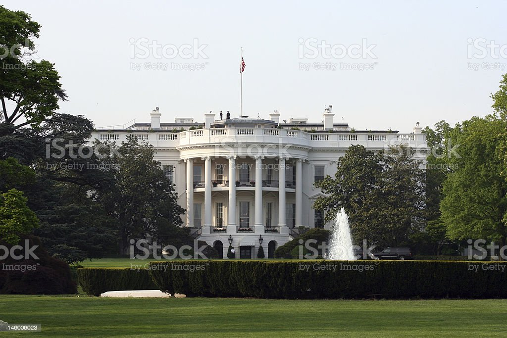 White House Closeup stock photo