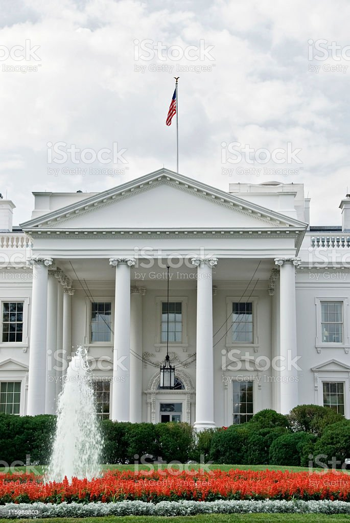 White House Front Entrance royalty-free stock photo