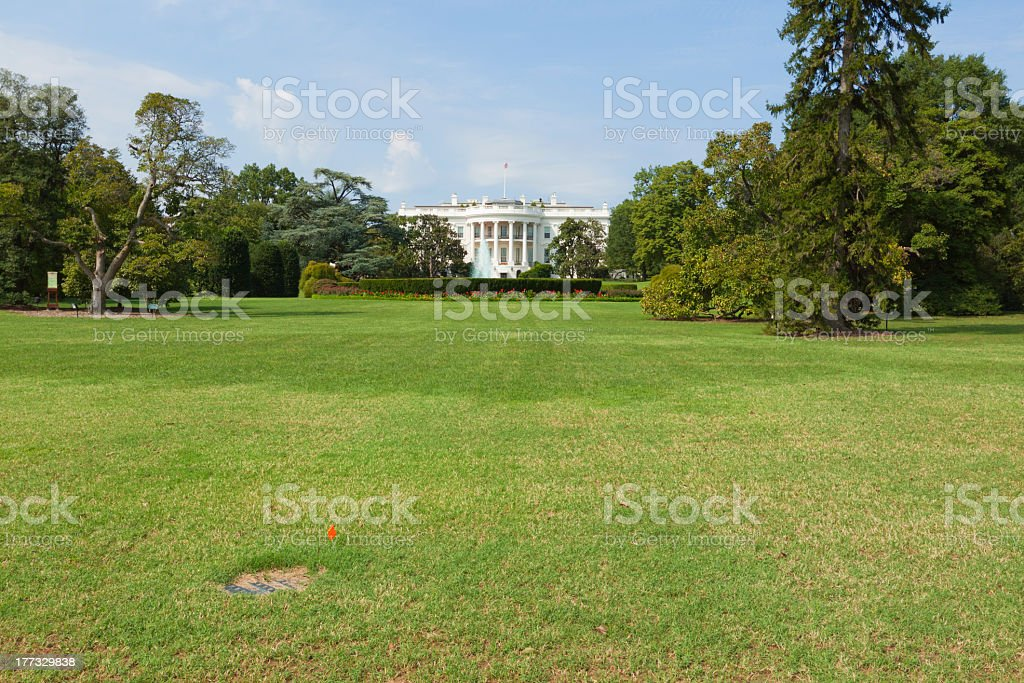 White House front lawn royalty-free stock photo
