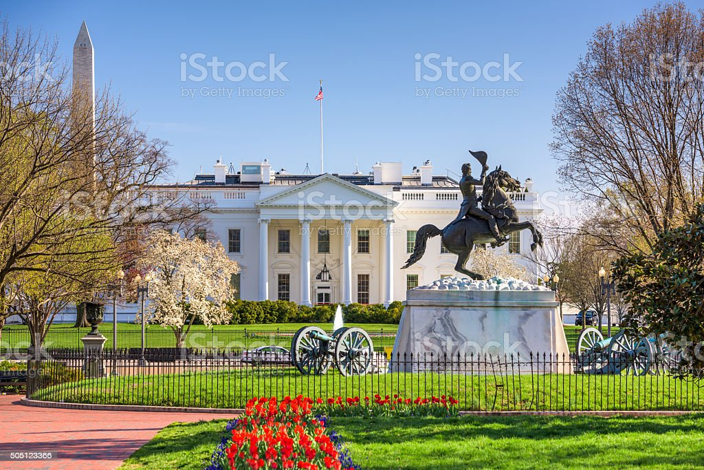 White House in DC stock photo