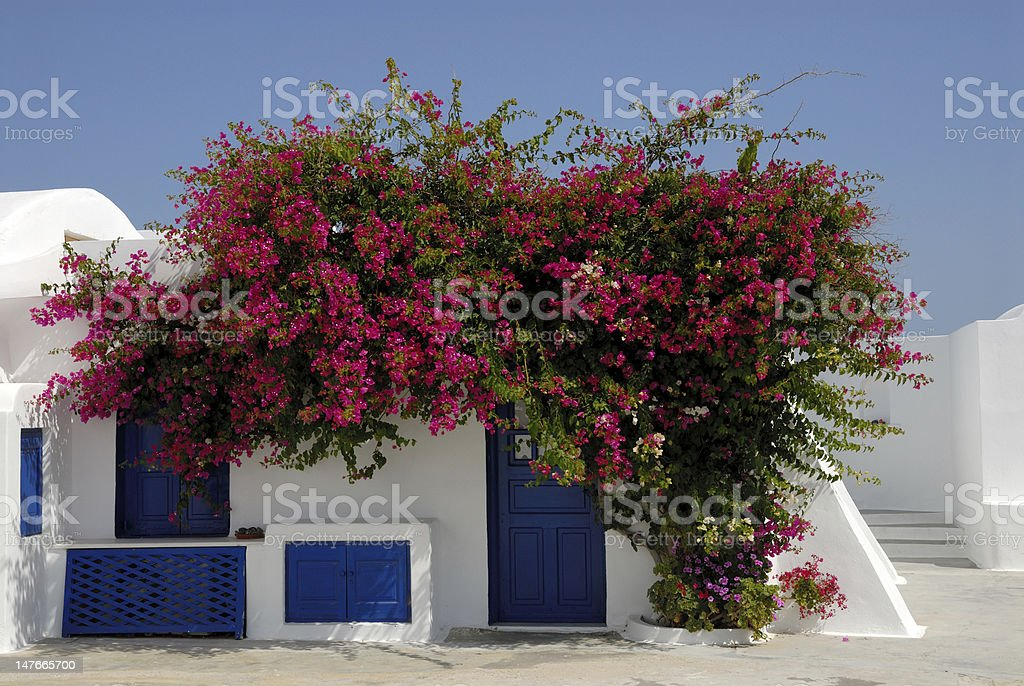 White house in  Greece royalty-free stock photo