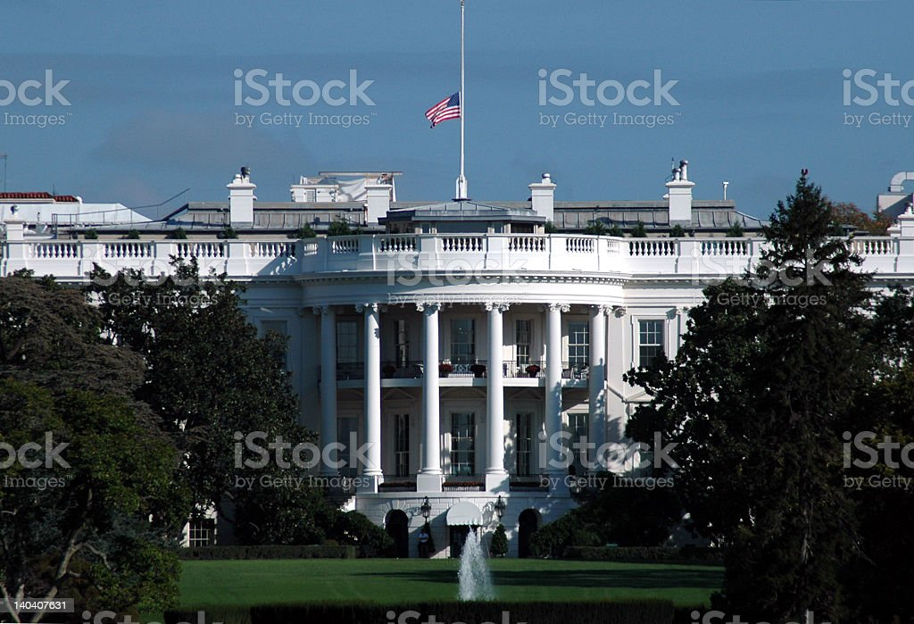 White House in Mourning stock photo