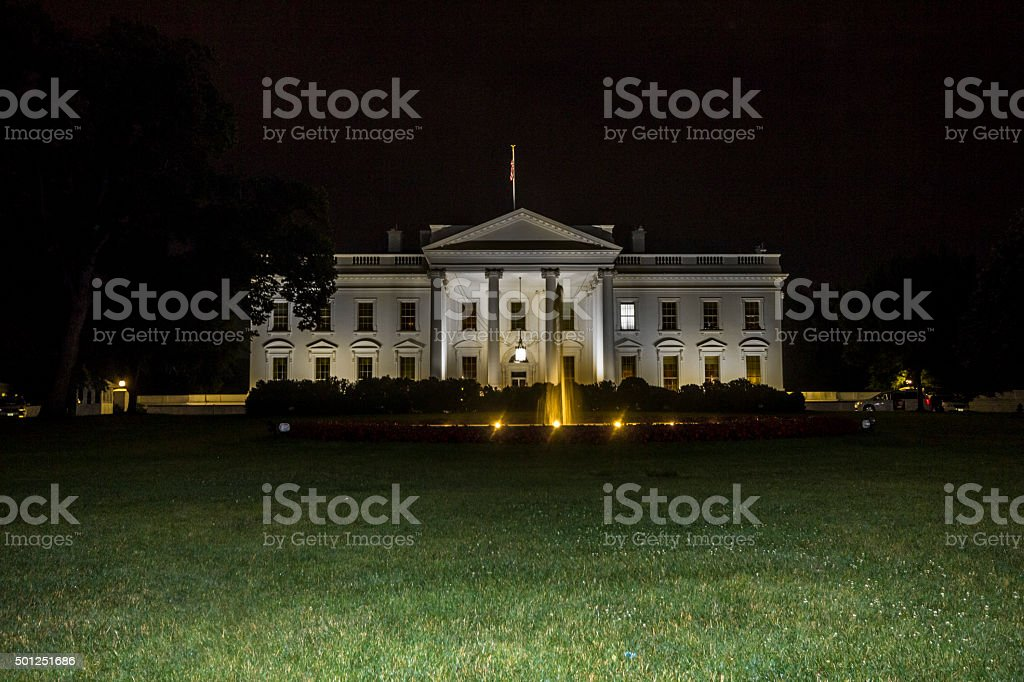 White house in Washington at night - Royalty-free American Culture Stock Photo