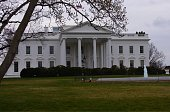 Presidential Residence Washington DC from front lawn of Pennsylvania Avenue