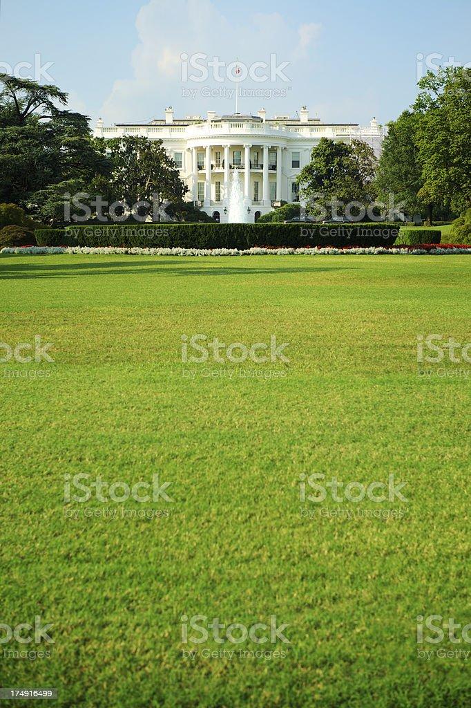 White House Lawn Washington DC Vertical royalty-free stock photo