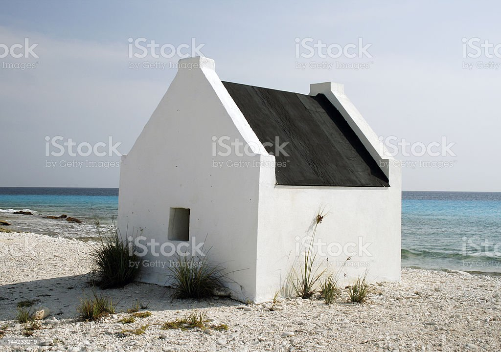 white house on the beach royalty-free stock photo