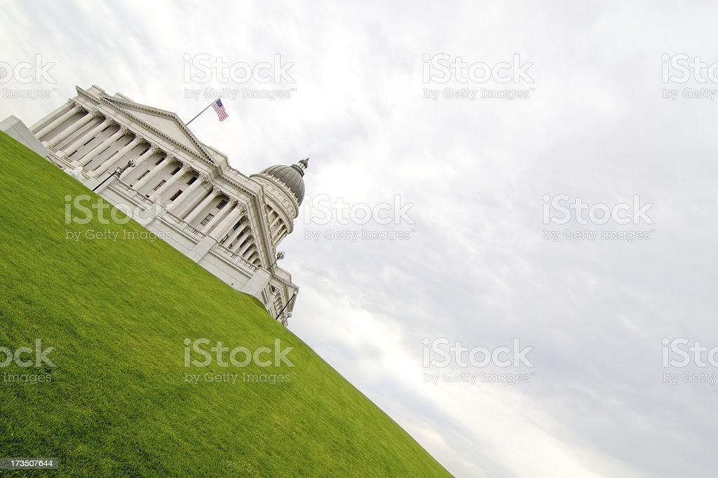 White house on the hill royalty-free stock photo