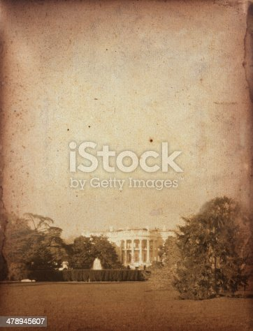 Antique photo of the White House