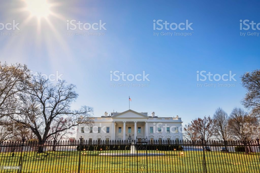 White House Rays stock photo
