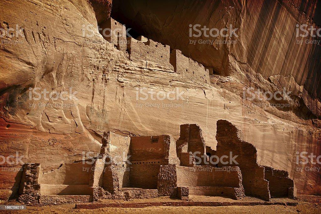 White House Ruins Canyon de Chelly National Monument, Arizona stock photo